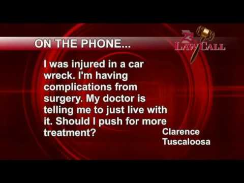2/15/2018 – Just Live With Your Injury – Tuscaloosa, AL – LawCall – Legal Videos