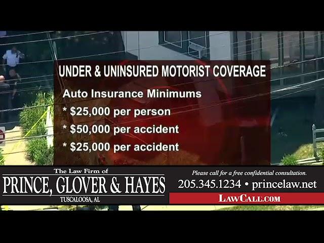7/12/2018 – Uninsured Motorist Coverage – Tuscaloosa, AL – LawCall – Legal Videos