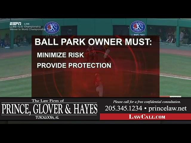 7/26/2018 – Ballpark Damages – Tuscaloosa, AL – LawCall – Legal Videos